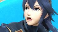 Detalle del rostro de Lucina en Pilotwings SSB4 (Wii U)