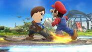 Espadachín Mii usando Contrataque (2) SSB4 (Wii U)