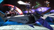 Falco, Captain Falcon, Little Mac y Fox en la Estación espacial SSB4 (Wii U)
