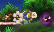 Gastly y un Fantasma atacando a Diddy Kong en la Smashventura SSB4 (3DS)