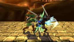 Golpiza de Link SSB4 (Wii U)