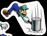 Pegatina de Luigi M&L Superstar Saga SSBB