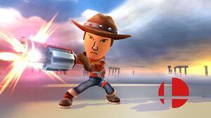Pose de victoria (1) Tirador Mii SSB4 Wii U