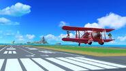 Samus y Link en Isla de Pilotwings SSB4 (Wii U)