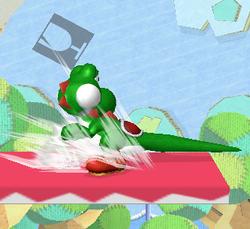 Ataque Smash hacia abajo de Yoshi (1) SSBM