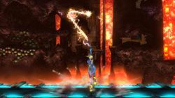 Ataque Smash superior de Samus Zero SSB4 (Wii U)