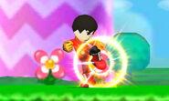 Karateka Mii usando Patada explosiva SSB4 (3DS) (1)
