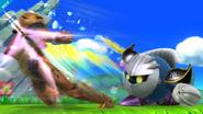 Meta Knight atacando a Samus SSB4 (Wii U)