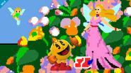 Pac-Man en un escenario desconocido SSB4 (Wii U)