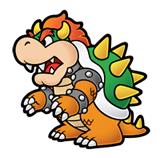 Pegatina de Bowser Super Paper Mario SSBB