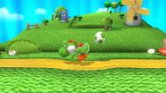 Yoshi usando puesta (2) SSB4 (Wii U)