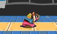 Ataque Smash hacia arriba de Wario (1) SSB4 (3DS)