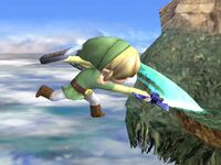Ataque aéreo normal Toon Link SSBB