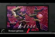 Bosque Genesis tras la explosion SSB4 (3DS)