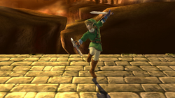 Burla inferior de Link SSB4 (Wii U)