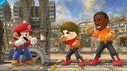Comparación de tamaño de los Karatekas Mii SSB4 (Wii U)