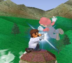 Lanzamiento delantero de Dr. Mario (2) SSBM