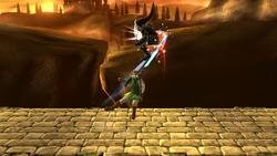Lanzamiento superior de Link (2) SSB4 (Wii U)