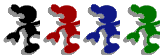Paleta de colores Mr. Game & Watch SSBM