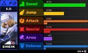 Pantalla donde se muestran los potenciadores obtenidos SSB4 (3DS)