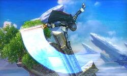 Ataque aéreo hacia abajo Lucina SSB4 (3DS)