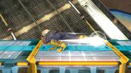 Ataque de recuperación boca abajo de Captain Falcon (1) SSB4 (Wii U)