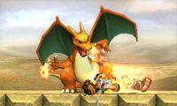 Lanzamiento inferior de Charizard SSB4 (3DS)