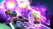 Lucas usando Trueno PSI en el Castillo del Dr. Wily SSB4 (Wii U)