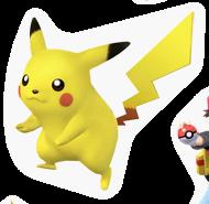 Pegatina Pikachu SSBB