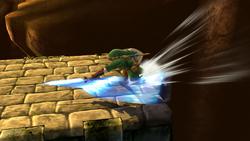 Ataque de recuperación desde el borde de Link SSB4 (Wii U)