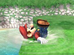 Burla hacia abajo (3) Mario SSBB