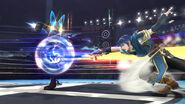 Lucario usando Doble equipo SSB4 (Wii U)