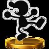 Trofeo de Mr. Game & Watch SSB4 (Wii U)
