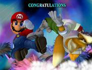 Créditos Modo All-Star Mario SSBM
