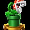 Trofeo de Planta piraña SSB4 (Wii U)