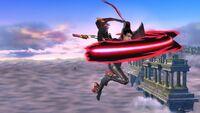 Ataque Aéreo Hacia Adelante (2) Bayonetta SSB Wii U