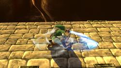 Ataque de recuperación boca arriba de Link (1) SSB4 (Wii U)