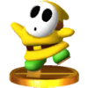 Trofeo de Shy Guy amarillo SSB4 (3DS)
