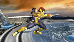 Ataque Smash lateral Captain Falcon SSBB