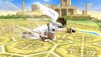 Ataque de recuperación boca abajo (1) Pit SSB4 Wii U