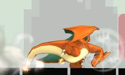 Ataque fuerte inferior de Charizard (2) SSB4 (3DS)
