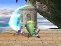 Ataque fuerte superior Toon Link SSBB
