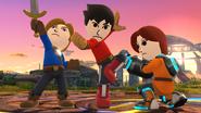Créditos Modo Senda del guerrero Luchador Mii SSB4 (Wii U)