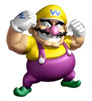 Pegatina de Wario Super Mario 64 DS SSBB