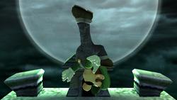 Ataque aéreo hacia arriba Luigi SSBB