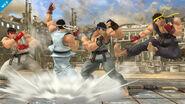 Ryu mostrando su paleta de colores en el Coliseo SSB4 (Wii U)