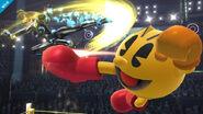Samus Zero y Pac-Man en el Cuadrilátero SSB4 (Wii U)