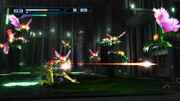 Samus atacando a varios Reos en Metroid Other M