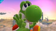 Yoshi en el Campo de Batalla SSB4 (Wii U)