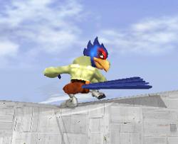 Ataque fuerte hacia abajo de Falco SSBM